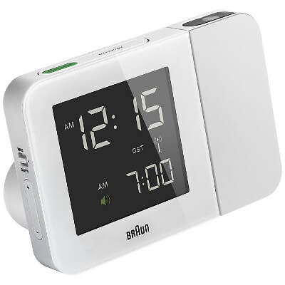 braun projection radio controlled alarm clock
