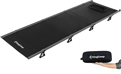 Kingcamp Ultra lightweight camp bed black