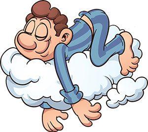 Man Sleeping On A Cloud Pillow