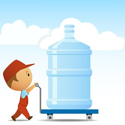 Giant water bottle delivery
