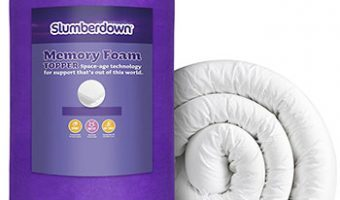 Purple-Slumberdown Memory Foam Mattress Topper