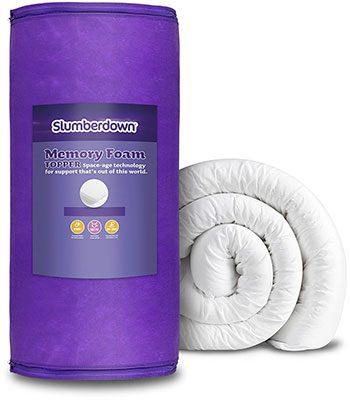 Purple-Slumberdown Memory Foam Mattress Topper