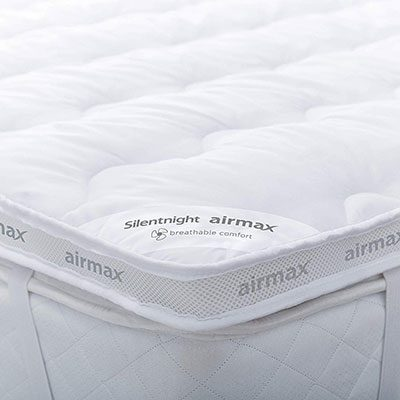 Silentnight Airmax Mattress Topper white