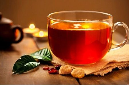 Green Tea In a Glass
