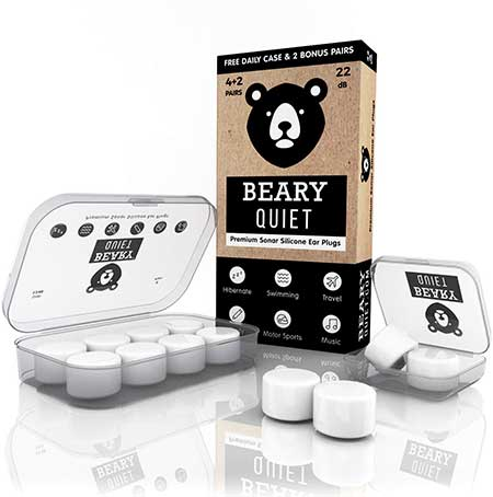 Earplugs for Sleeping by Beary Quiet