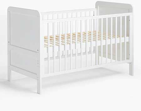 John-Lewis-&-Partners-Alex-Cotbed,-Solid-White