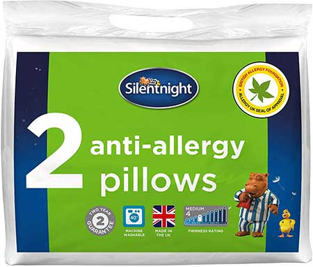 Silentnight Anti Allergy Pillow - White, Pack of 2