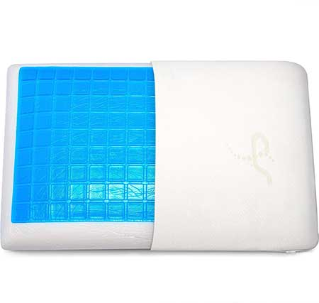 Supportiback Comfort Therapy Memory Bed Pillow With Heat Dissipating Cool Gel