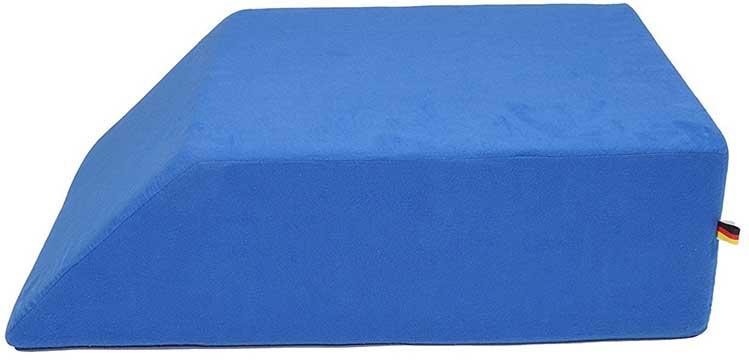 Blue Sanolind Orthopaedic Leg Elevation Pillow