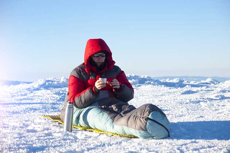 Man In Need of Sleeping Bag Liner For Sleeping Bag