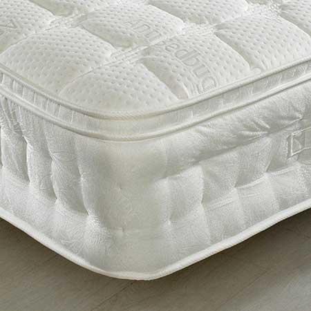 Anti Bed Bug 1500 Pocket Sprung Memory  Latex and Reflex Foam Pillow Top Mattress
