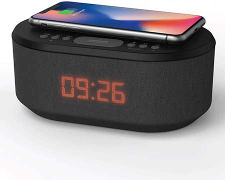 Bedside Wireless Charging Alarm Clock Radio