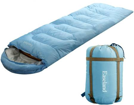 EASELAND 3-4 Season Envelope Style Sleeping Bag for Camping Hiking Backpacking and Outdoors