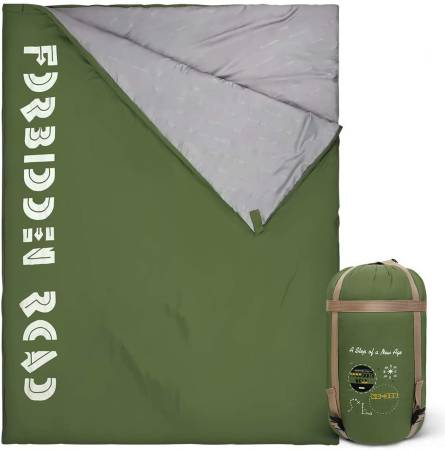 Forbidden Road Double Sleeping Bag 3 Season Envelope