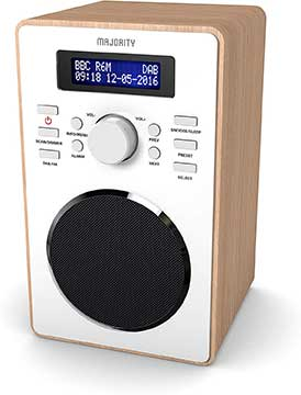 Majority Barton II Retro DAB Digital Alarm Clock Radio