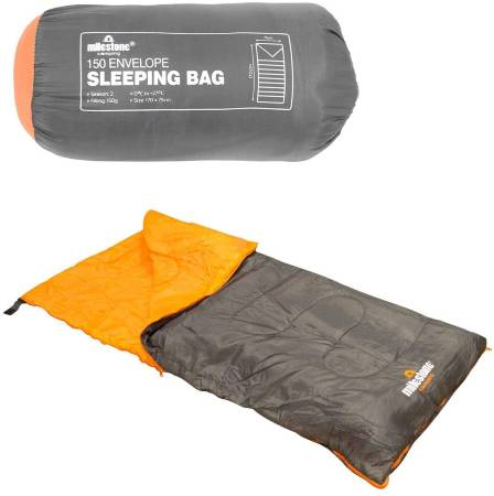 Milestone Camping 26700 Envelope Sleeping Bag 2 Season