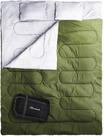 REEHUT Double Sleeping Bag for Camping