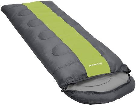 SONGMICS Wide Sleeping Bag with Compression Sack 4 Seasons Easy to Carry