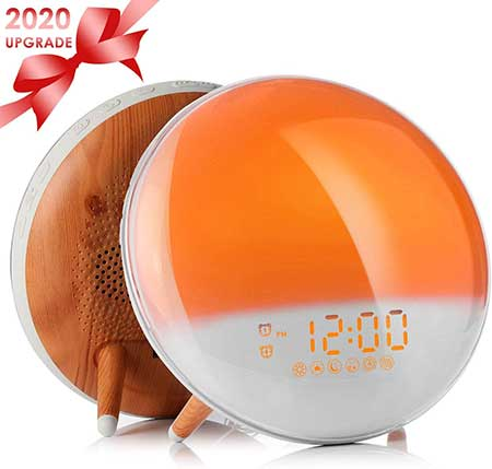 Fitfirst Wake  Light Alarm Clock Sunrise Sunset Simulation