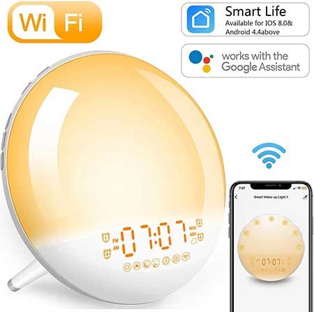 Smart Wi Fi Wake Up Light Alarm Clock