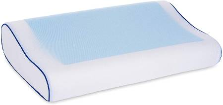 LIVIVO Memory Foam Pillow with Built-in Cool Jelly Pad